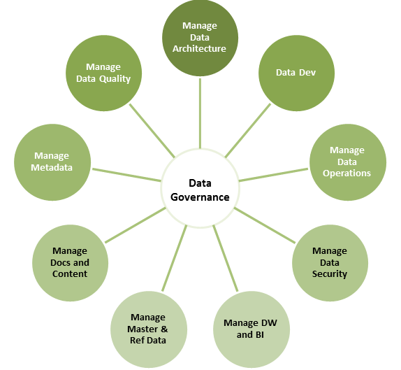 Figure 1: The scope of Data Governance according to DAMA
