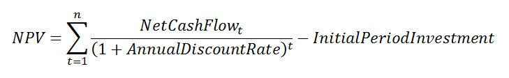 Equation 2: NPV.