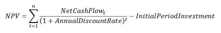 Equation 2: NPV.