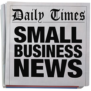 Small Business Newspaper Headline Report Spinning 3d Illustration